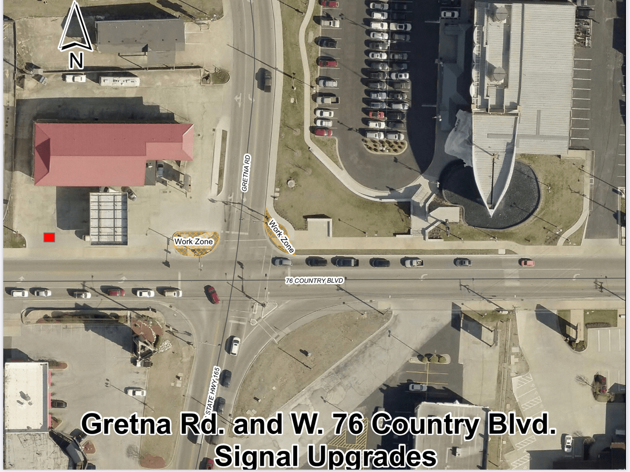 Gretna and 76 Intersection pedestrian signal upgrades