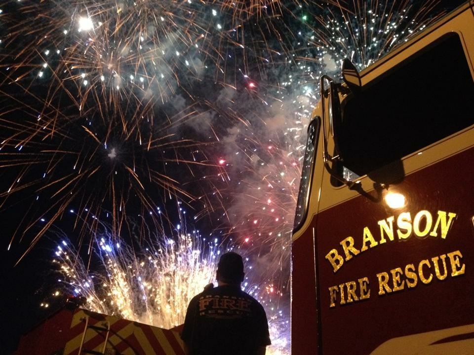 Fireworks Photo with Engine 3