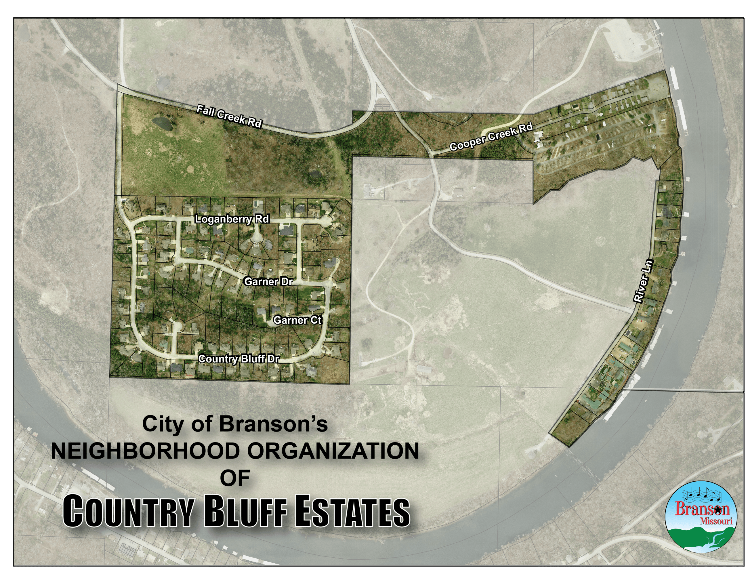 Country Bluff Estates Map